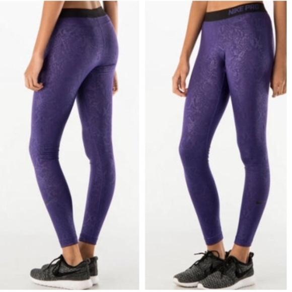 9b084a5da79269 Nike Pants | Pro Warm Embossed Vixen Tights Nwt | Poshmark